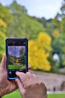 Grass, Hand, Outdoors, Person, Phone, Technology