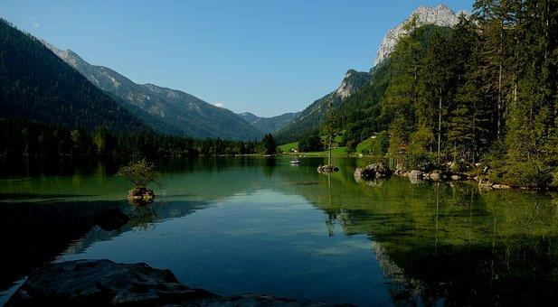 Hintersee, Alpine, Landscape, Nature, Ramsau