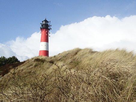 Sylt, Hörnum, Lighthouse, Island, North Sea, Beach, Sea