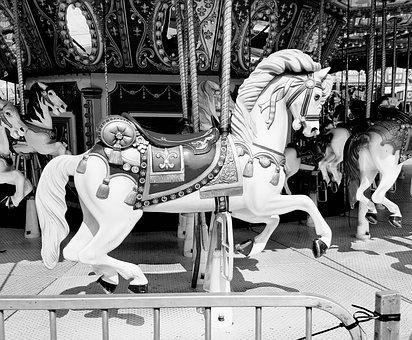 Fair, Carousel, Horse, Merry-go-round