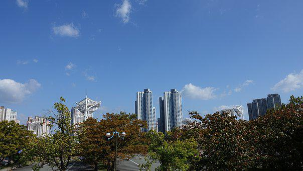 Apartments, City, Sky, Architecture, Town, Houses