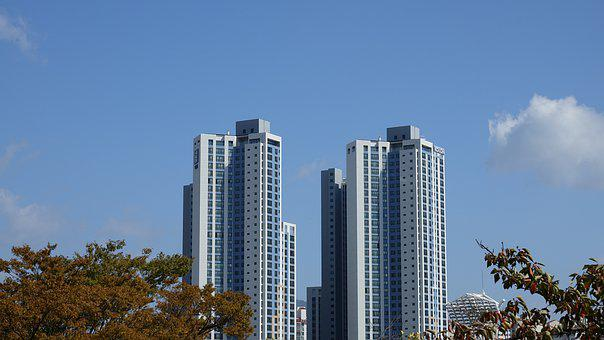 Apartments, Architecture, Sky, Building, Window, Houses
