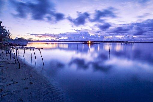 Landscape, Tropical, Before The Dawn, Lagoon