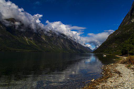 The Nature Of The, Landscape, Water, Mountain, Summer