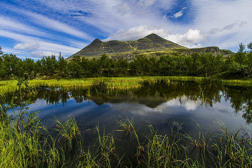 The Nature Of The, Landscape, Water, Mountain, Sky