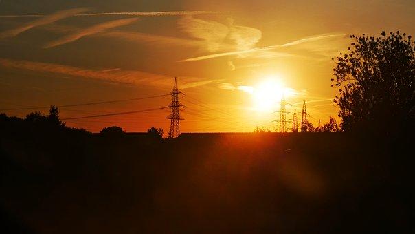 Sunset, Sun, Evening, Romantic, Sky, Nature, Germany