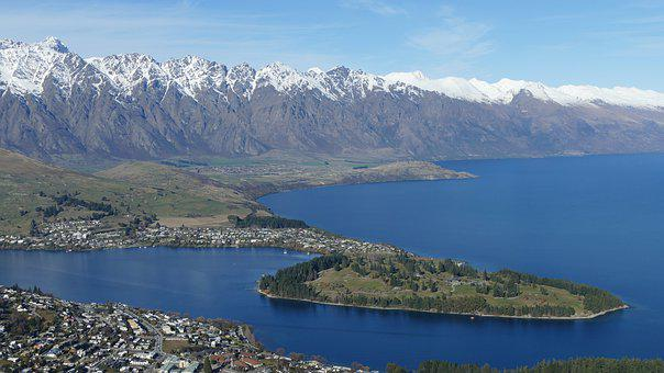 Queenstown, Mountain, Water, Landscape, Nature, Lake