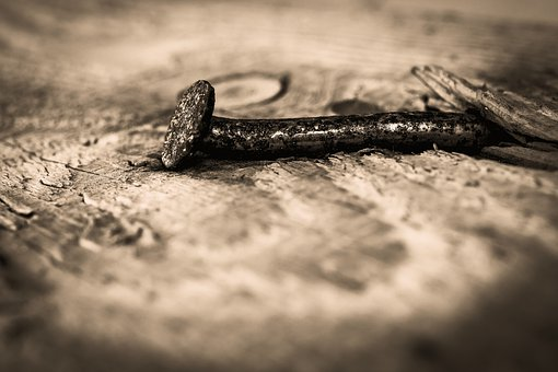 Nail, Rust, Wood, Old, Rusty, Metal, Background, Nails