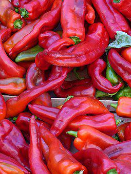 Vegetables, Peppers, Red, Kitchen, Food, Forte, Spices