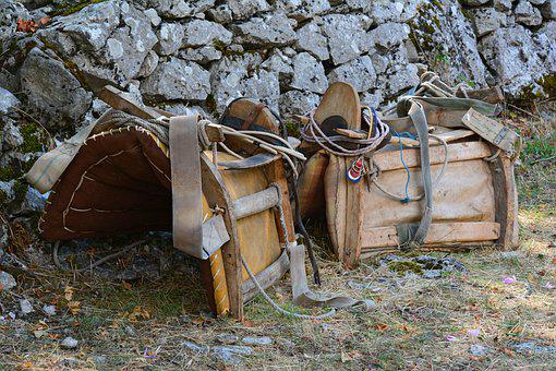 Saddle, Pack Saddle, Horse Gear, Rig, Archaic, Harness