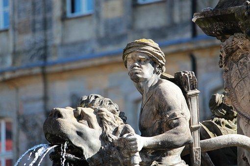 Bayreuth, Upper Franconia, Bavaria, Fountain, Sculpture