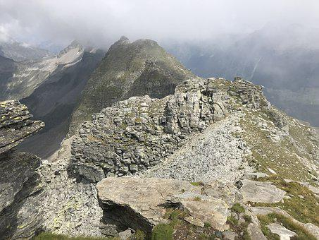 Alpine Route, Alps, Alpine, Adventure, Walk, Sky, Tops