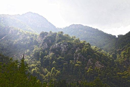 Landscape, Mountain, Tree, Nature, Clouds, Sky, Village