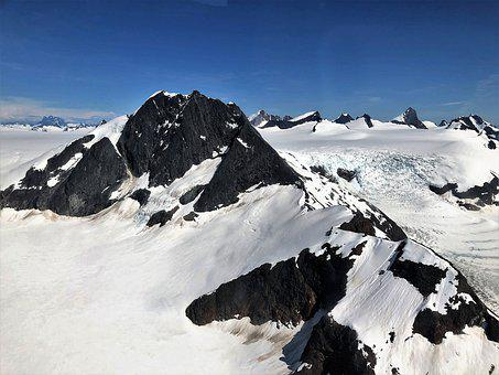 Alaska, Mountains, Snow, Landscape, Scenic, Outdoors