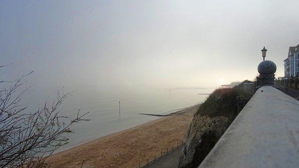 Dawn, Sunrise, Sea, Coast, Sky, Nature, Mist, Fog