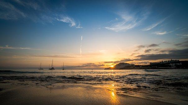 Mallorca, Sunrise, Sea, Spain, Sunset, Balearic Islands