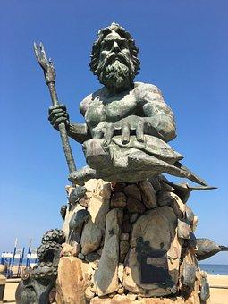 King, Neptune, Trident, Famous, Tourist, Landmark