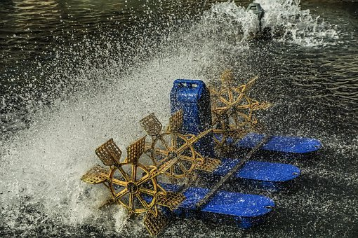 Paddle Wheel, Aerator, Inject, Water, Drip, Spray