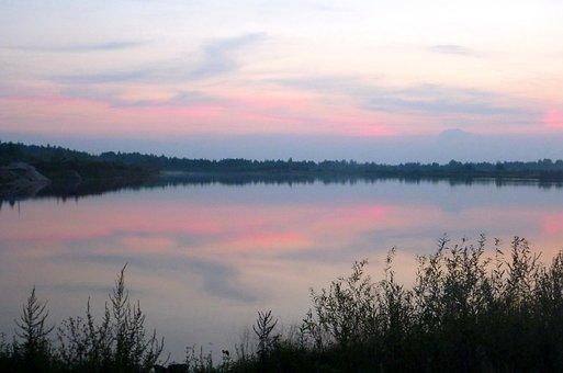 Landscape, Sunset, Evening, Lake, Nature, Summer, Water