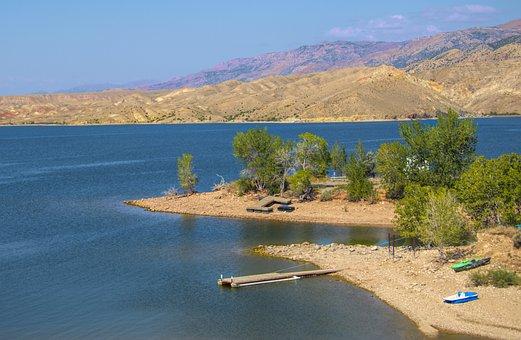 Reservoir, Water, Landscape, Nature, Lake, Sky, Clouds