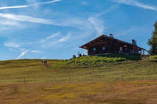 Hut, Alm, Nature, Alpine, Landscape, Mountains, Hiking