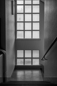 Staircase, Window, Architecture, Building, Interior