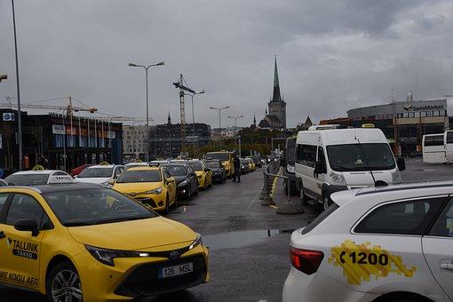 Taxi, Tallinn, Autumn, Estonia, Tower, Building