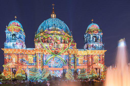 Festival Of Lights, Berlin, Berlin Cathedral, Church