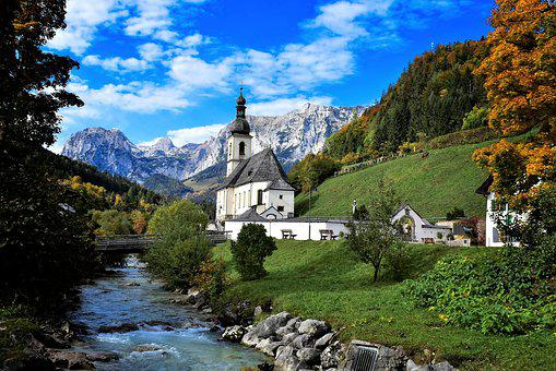 Church, Chapel, Ramsau, Berchtesgaden, Bavaria