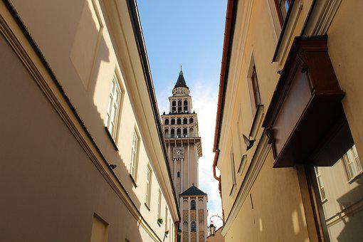 Tower, Church, View, Street, Building, Architecture