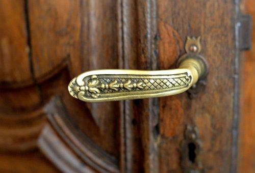 Heck, Door, Wood, Copper, Brass, Wrought