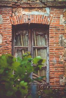 Window, Dark, House, Former, Abandoned, Old