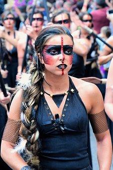 Amazon, Woman, Warrior, Heroin, Determined, Beauty