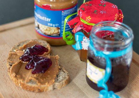 Peanut Butter Sandwich, Jelly, Food, Eat, Peanut