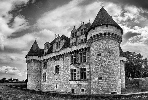 Panorama, Castle, Landscape, Architecture, France
