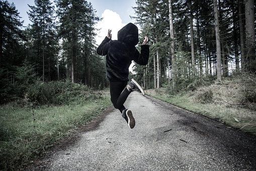 Jump, Girl, Play, Happy, Joy, Person, Freedom, Female
