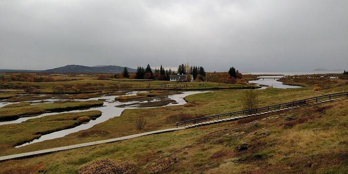 Iceland, Island, Golden Circle, Thingvellir, Landscape