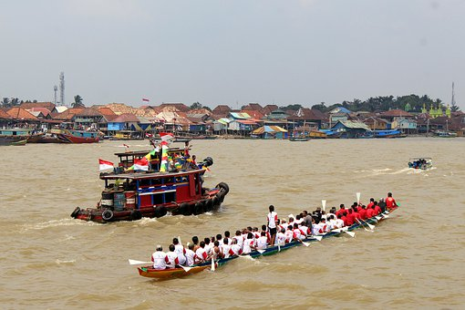 Boat, People, Water, River, Nature, Pool, Indonesian