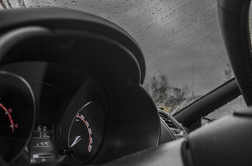 Lada, Auto, Lada Granta, Avto, Rain, Autumn, Nature