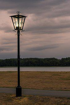 Lantern, Light, Dark, Lake, Water, Nature, Landscape