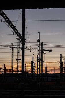 Crane, Sky, Industry, Cranes, Building, Logistics, Port