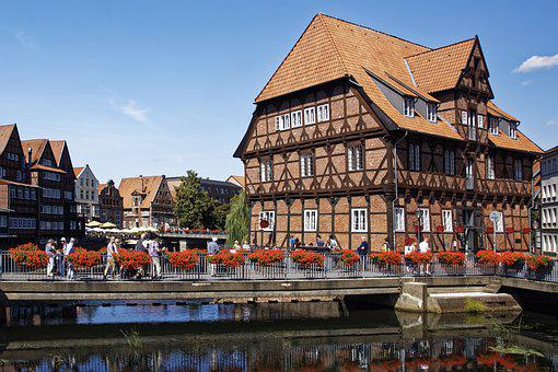 Germany, Lüneburg, Lüner Mühle, Historic Center