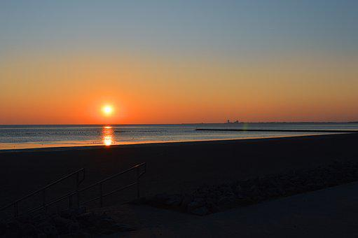 Sunset, Abendstimmung, Meldorfer Port, North Sea