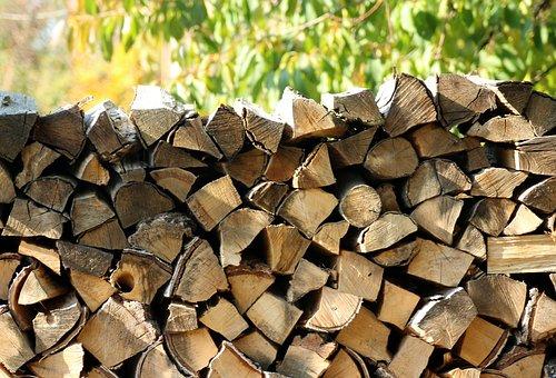 Wood, Tree, Fuel, Firewood, Pile Of Wood