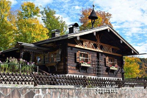 Hut, House, Woodhouse, Bavaria, Rustic, Rural, Nature