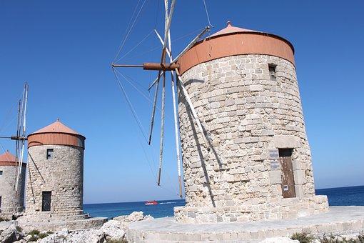 Rhodes, Greece, Holidays, Aegean Sea, Island, Sea