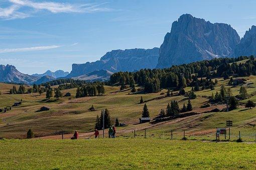 Seiser Alm, Alm, Hiking, South Tyrol