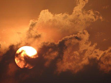 Sunset, Sun, Landscape, Sky, Mood, Nature, Dusk, Clouds