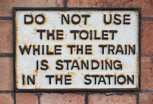 Toilet, Notice, Train, Station, Restroom, Washroom