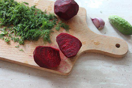 Beets, Cucumber, Garlic, Vegetables, Dill, Food, Diet